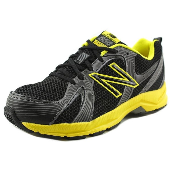 New Balance KJ554 Youth W Round Toe Synthetic Black Running Shoe