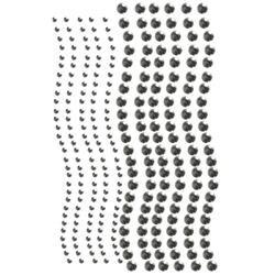 Gun Metal Pearls - Want2scrap Self-Adhesive Round Bling 3Mm & 6Mm 250/Pkg