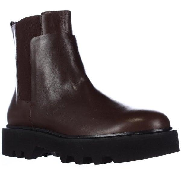 Kalliste 5048 Lug Sole Pull On Ankle Boots, Brown - 9 US / 40 EU