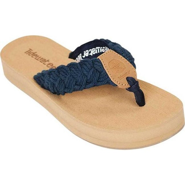 a4ba8605d2b7 Shop Tidewater Sandals Women s Nantucket Flip Flop Navy - On Sale - Free  Shipping On Orders Over  45 - Overstock.com - 20545733