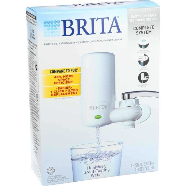 Brita Faucet Water Filter System with Light Indicator, White - Free ...