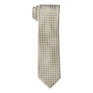 Calvin Klein NEW Beige Gray Mens One Size Power Dot Silk Neck Tie