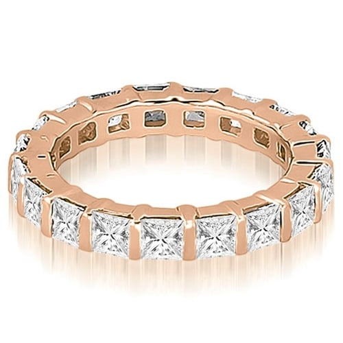 2.00 cttw. 14K Rose Gold Princess Diamond Eternity Ring
