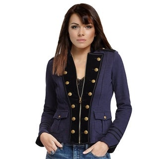 Denim & Supply Ralph Lauren Velvet Trim Military Jacket Blazer - xs