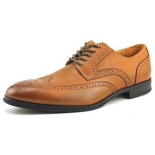 Alfani Miller Men Wingtip Toe Leather Tan Oxford