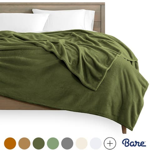 Bare Home Microplush Fleece Blanket - Ultra-Soft Velvet Bed Blanket