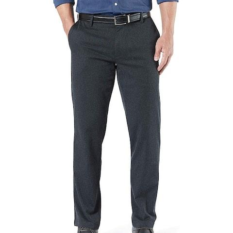 Dockers Mens Signature Khaki Pants Gray Size 38x32 Straight Fit Stretch