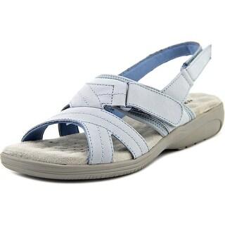 Walking Cradles Ciao Women Open-Toe Leather Blue Slingback Sandal