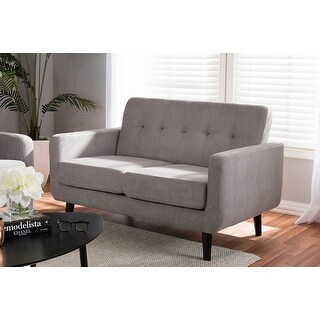 Carina Light Grey Fabric Upholstered Loveseat