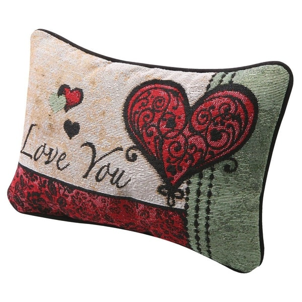 I Love You I Love You More Pillow - Woven Tapestry - Reversible Love Messages