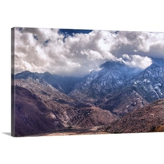 """Mighty and Heavenly - Mountains and Clouds, California"" Canvas Wall Art"