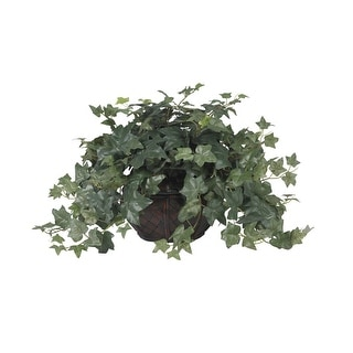 Nearly Natural Puff Ivy with Vase Silk Plant Green