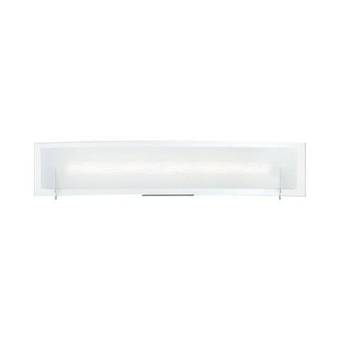 "Platinum PCSM8524 Stream Single Light 23-1/2"" Wide Integrated LED Bath Bar with - Polished chrome"