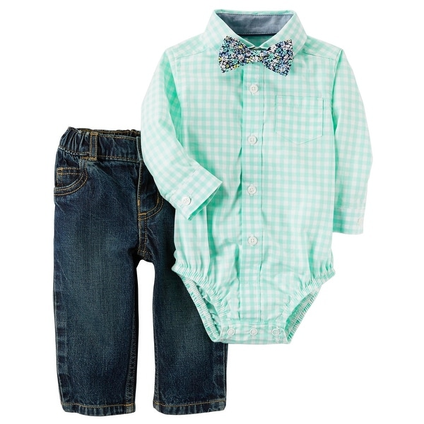 469e606fb Shop Carter's Baby Boys' 3-Piece Dress Me Up Set, Newborn - floral bowtie - Free  Shipping On Orders Over $45 - Overstock - 25750882