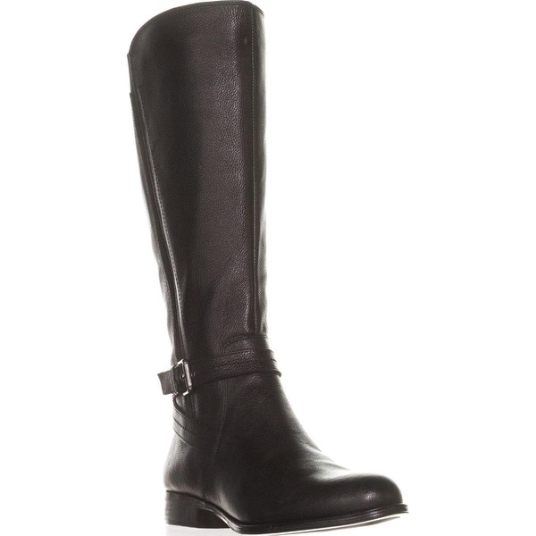 naturalizer Jelina Wide Calf Riding Boots, Black Leather