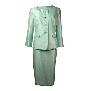 Le Suit Women's The Hamptons Dupioni Slub Skirt Suit