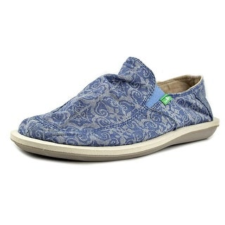 Sanuk Vice Funk Women Round Toe Canvas Blue Loafer