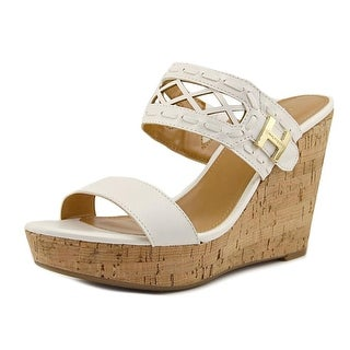 Tommy Hilfiger Monee Open Toe Leather Wedge Sandal