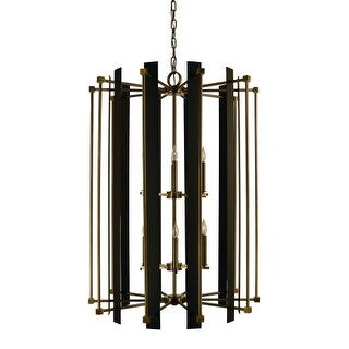 "Framburg 4806 Louvre 12 Light 32"" Wide Taper Candle Chandelier"