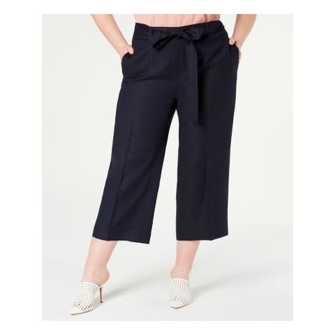 BAR III Womens Navy Belted Pants Size 22W