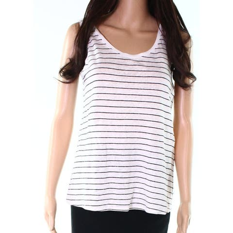 Eileen Fisher Black Women Sleeveless Striped Tank Top