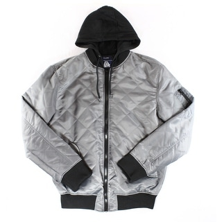 American Rag CIE NEW Gray Black Mens Size XL Hooded Puffer Jacket
