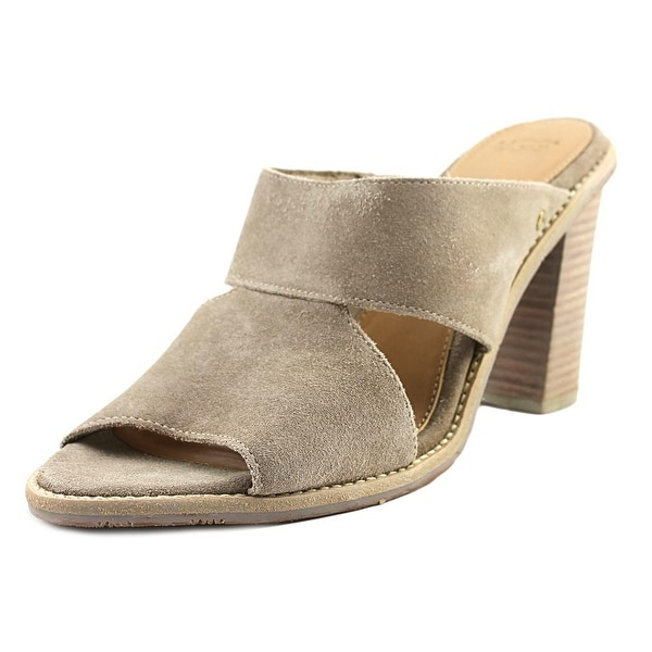 be6b02a7463 Shop UGG Celia Women Open Toe Suede Gray Sandals - Ships To Canada ...