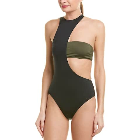 Proenza Schouler Layered High-Neck One-Piece