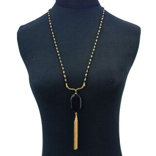 Beads Linecklaceed Necklacewith Pendant&Tassel
