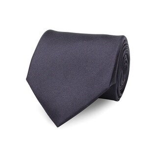 Versace Men's Slim Silk Neck Tie Navy - no size