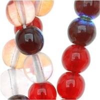Czech Glass Druk 6mm Round 'Strawberry Fields Mix' (50 Beads)
