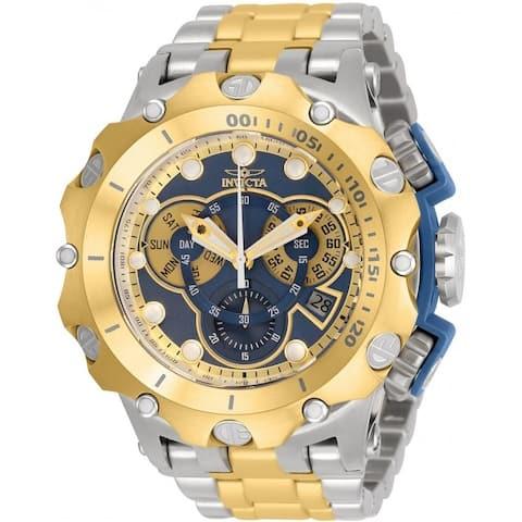 Invicta Men's 32763 'Venom' Reserve Gold-Tone and Silver Polyurethane Watch - Blue