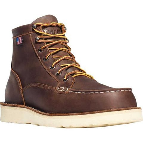 "Danner Men's Bull Run Moc Toe 6"" Cristy Brown Full Grain Leather"