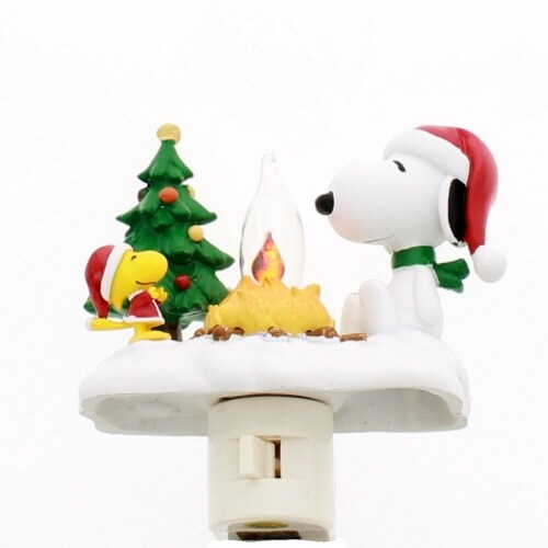 Peanuts 4-1/4-Inch Snoopy and Woodstock at Campfire Nightlight