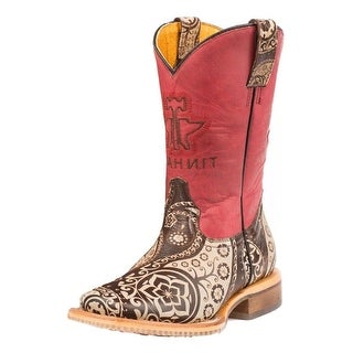 Tin Haul Western Boots Girls Paisley Brown 14-018-0007-0721 BR
