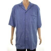 Nautica NEW Black Mens Size XL Plaid Short Sleeve Nightshirt Sleepwear