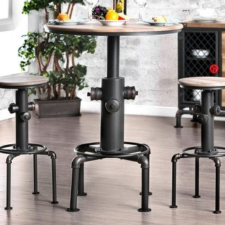 Link to Furniture of America Industrial Black Metal Bar-height Round Table Similar Items in Dining Room & Bar Furniture