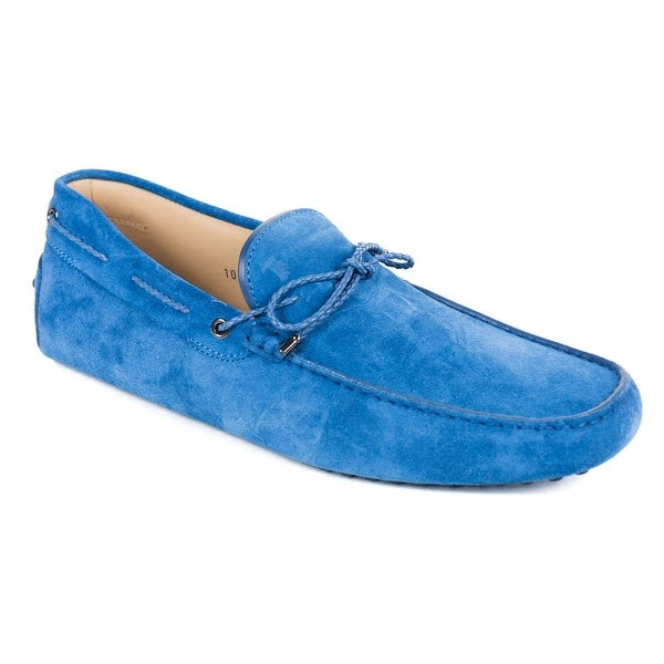 050849d512419 Shop Tod's Men's Blue Gommino Suede Driving Loafers - Free Shipping ...