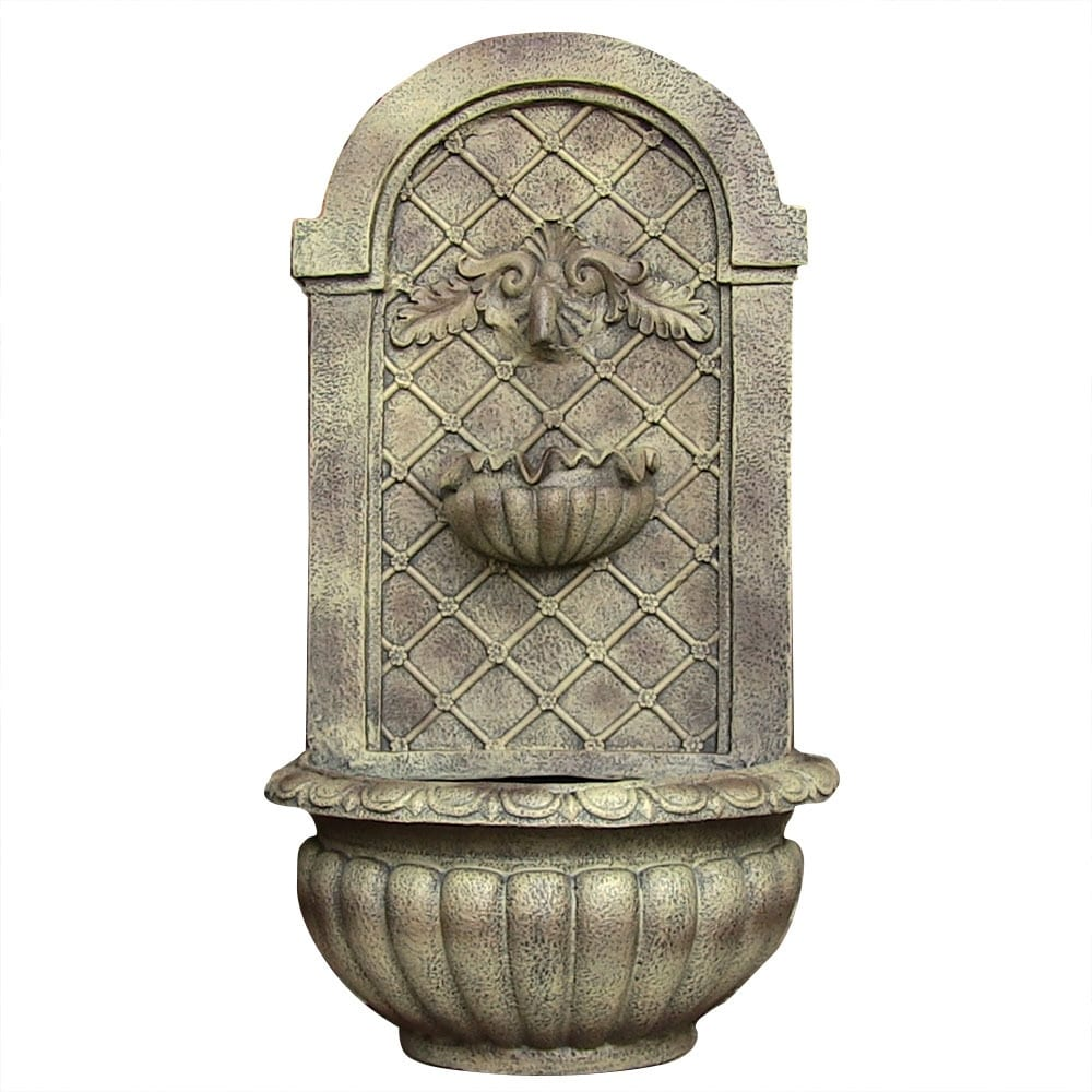 Sunnydaze Venetian Solar Outdoor Wall Fountain - Multiple Colors Available - Thumbnail 11