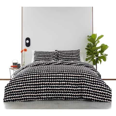 Marimekko Rasymatto Black Cotton Duvet Cover Set