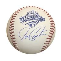 Joe Carter Toronto Blue Jays Autographed 1993 World Series Signed Baseball JSA COA With UV Display