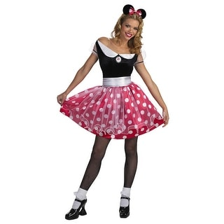 Disguise Disney Minnie Mouse Deluxe Adult Costume - Black/Red - 12-14