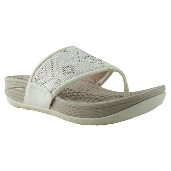 Womens Wide Flip Flops With Arch Support