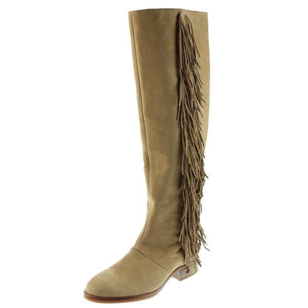 03bd24f81a3d Shop Sam Edelman Womens Josephine Over-The-Knee Boots Suede Fringe ...