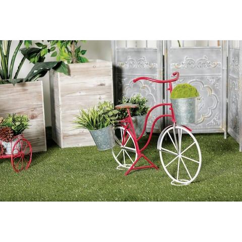 Red Tin Vintage Planter 23 x 31 x 15 - 31 x 15 x 23Round