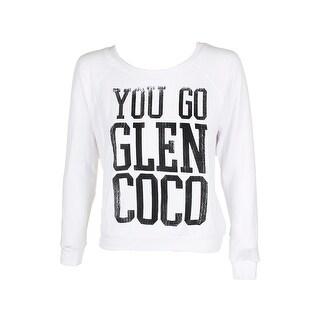 Prince Peter White Raglan-Sleeve Mean Girls Glen Coco Graphic Sweatshirt L
