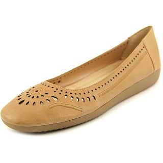 Naturalizer Kana Women N/S Round Toe Leather Brown Flats