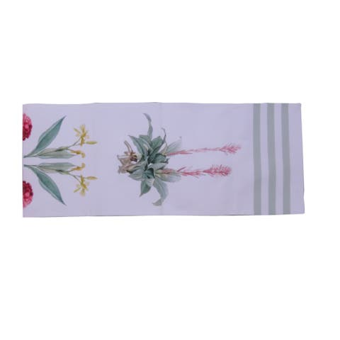 D.Franco Botanical Design Printed Cotton Table Runner - 72 x 14