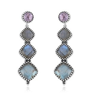 Link to 925 Sterling Silver Rhodium Over Labradorite Dangle Earrings Ct 7.89 Similar Items in Earrings