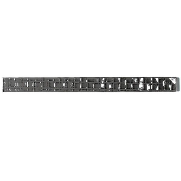"Miseno MT-WHSMEC0112-UR Metro Cubes - 1"" x 12"" Rectangle Wall Tile - Textured Visual - Gray"